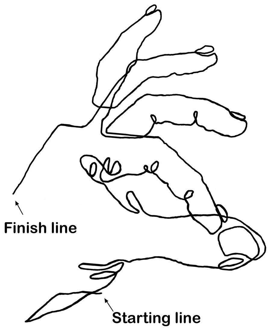 Contour Line Drawing Photo : A blind contour drawing drawspace